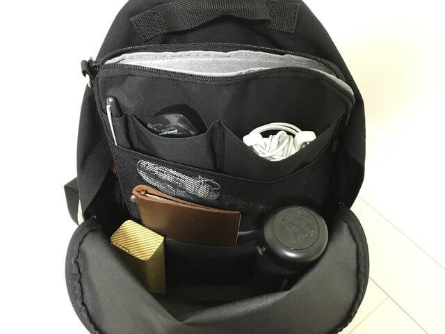 底に溜まる荷物もスッキリ!リヒトラブのバッグインバッグでリュックの中が最高に綺麗