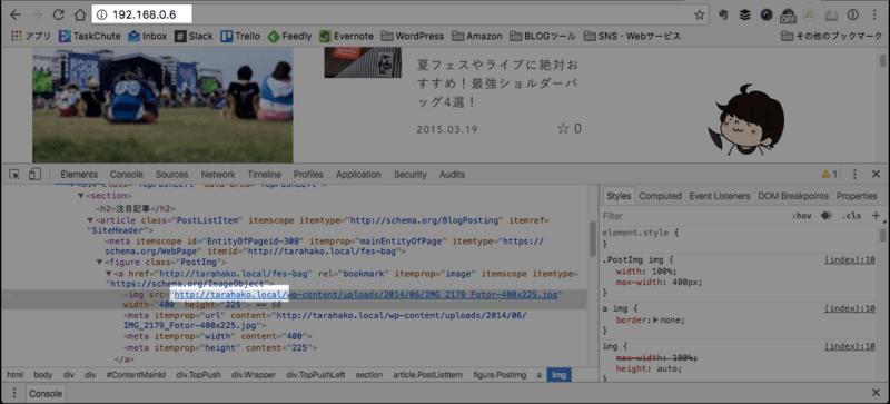 表示しているIPと画像をロードしているアドレスが違うため画像をロード出来ない