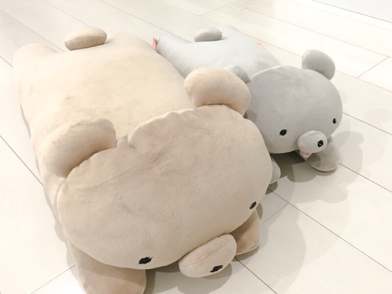 床に寝そべってももちくまさんかわいい