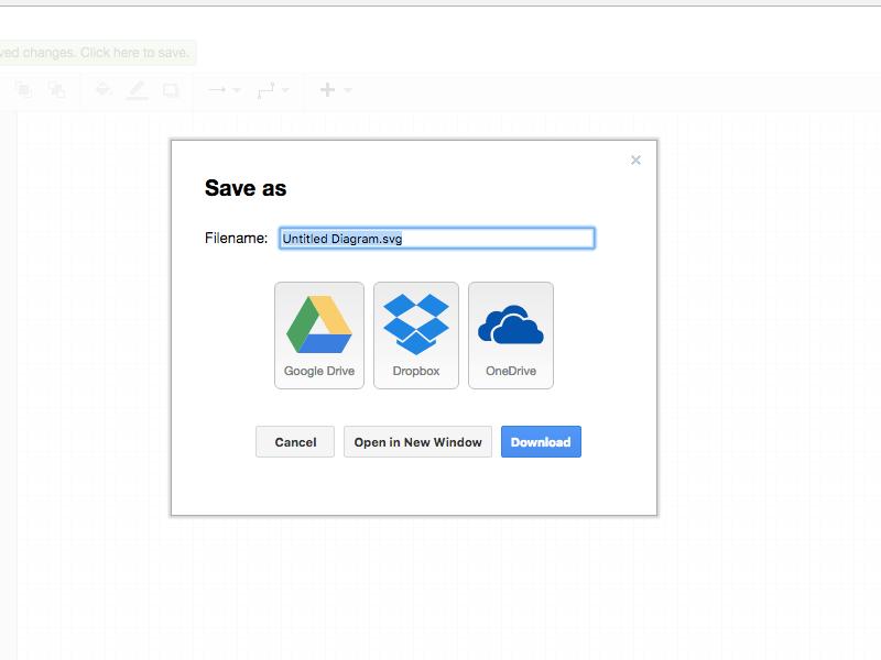 SVGファイルの保存先を選ぶ