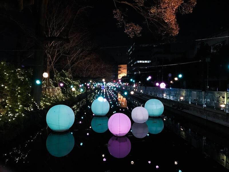 高崎城址のお堀のイルミネーションが今年は最高に綺麗