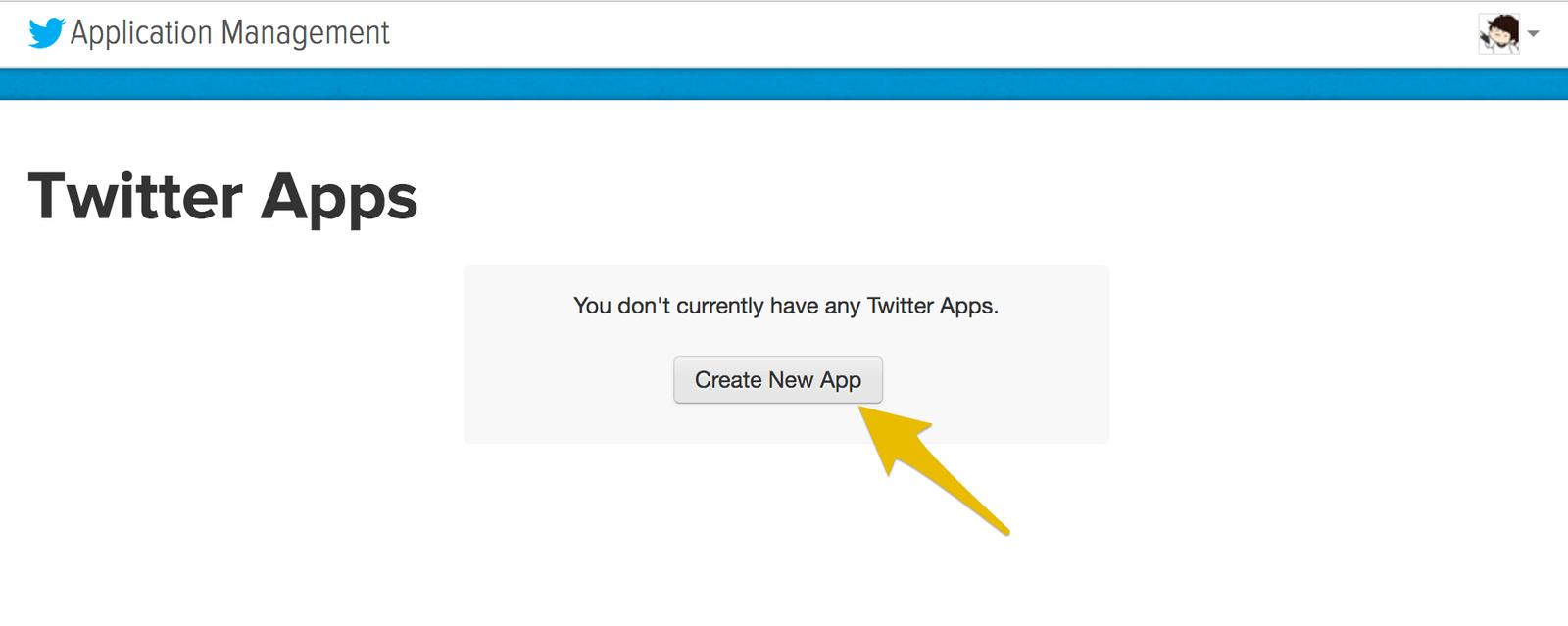 Twitterアプリケーションの作成を始めます