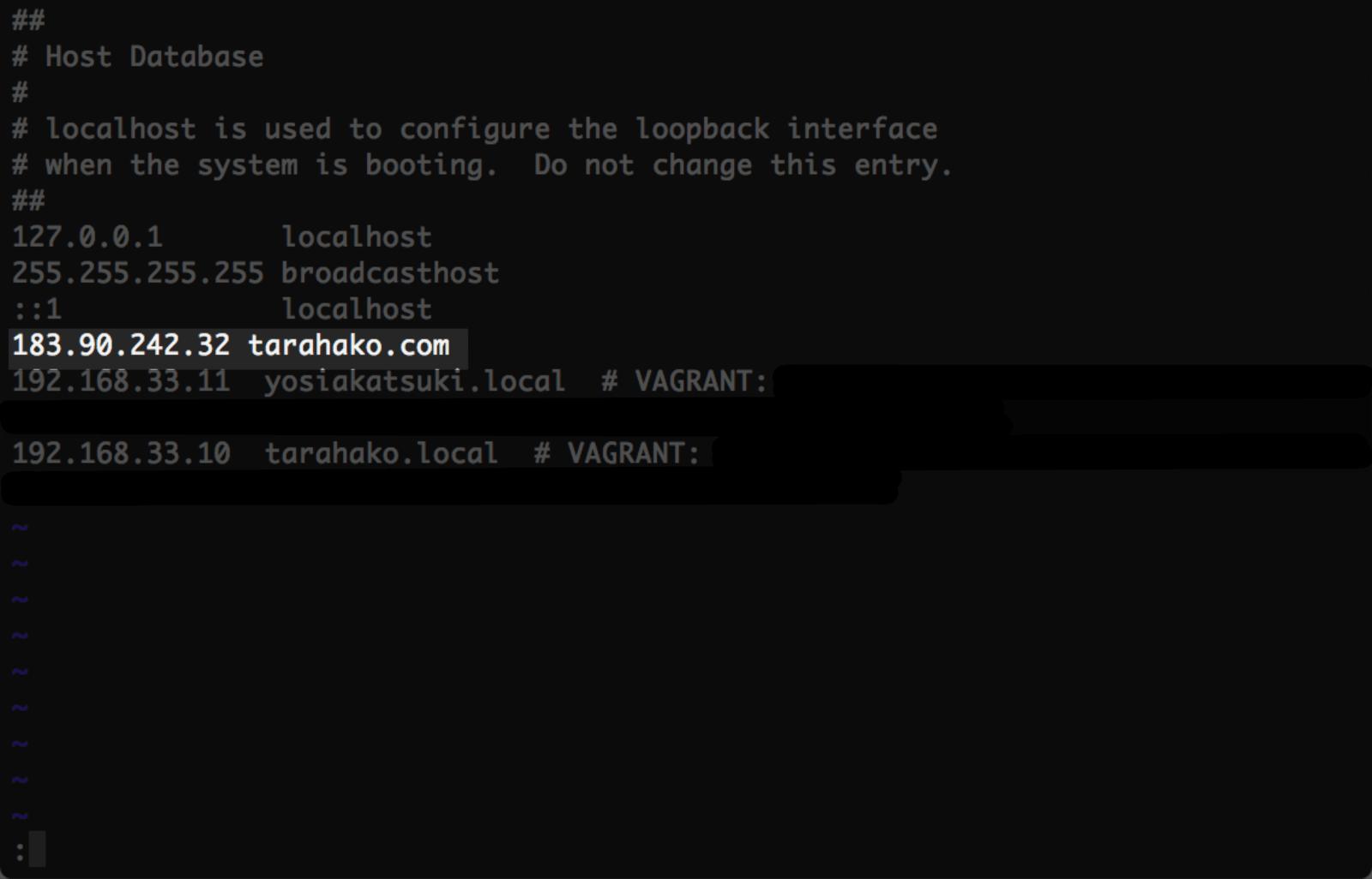 hostsの設定を新サーバーのIPを参照するように変更する