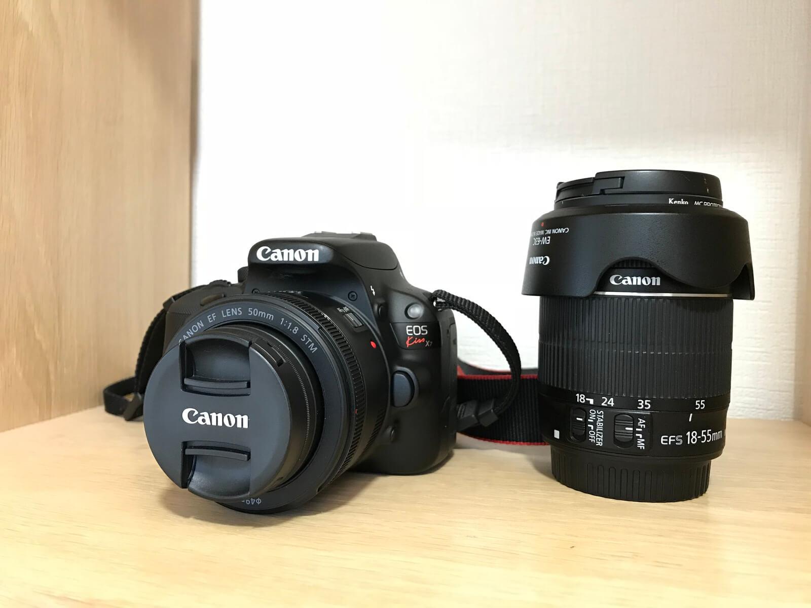 Canon EOS Kiss x7。やすかったので買ったやつ…