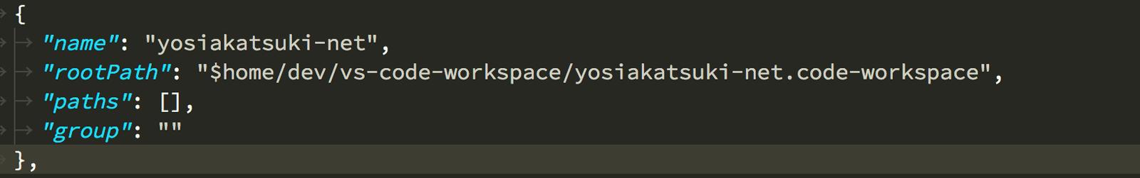Project Managerにワークスペースの保存ファイルを指定することで簡単に開くことが出来るようになります