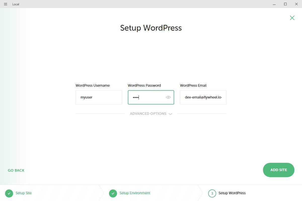 WordPress管理者ユーザーのユーザー名とパスワードを入力