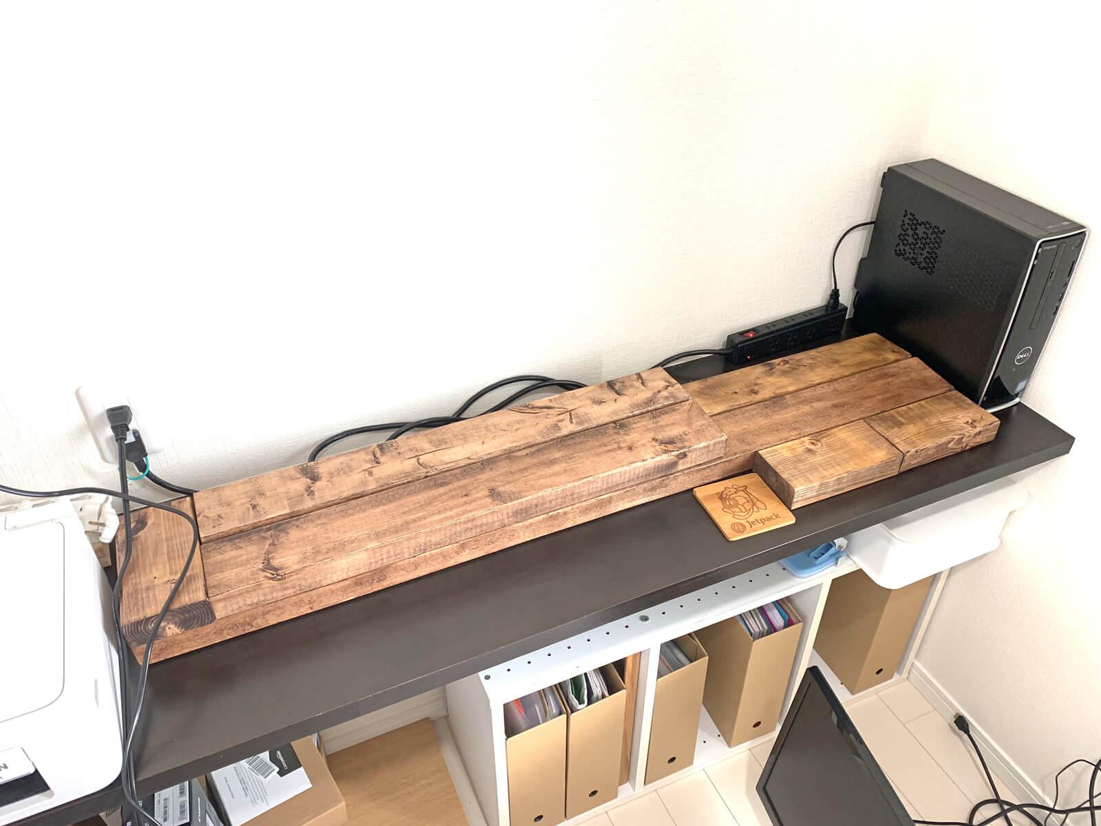 調整しながら木材の配置を考えます