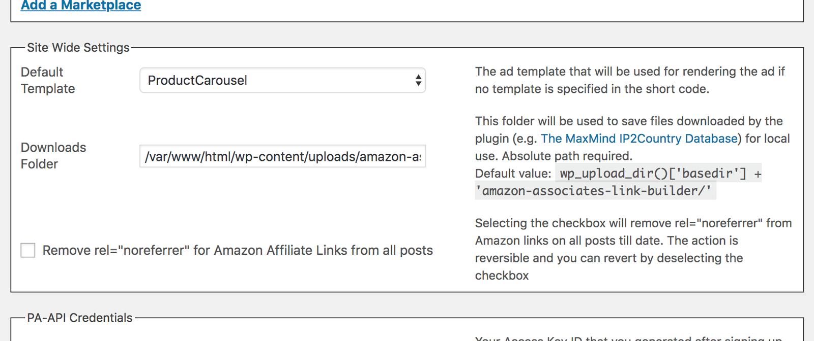 Amazon Associates Link Builderテンプレートなどの選択