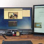 シンプルなAmazonベーシックのVESA規格対応モニタースタンドで夢の縦長ディスプレイを実現した