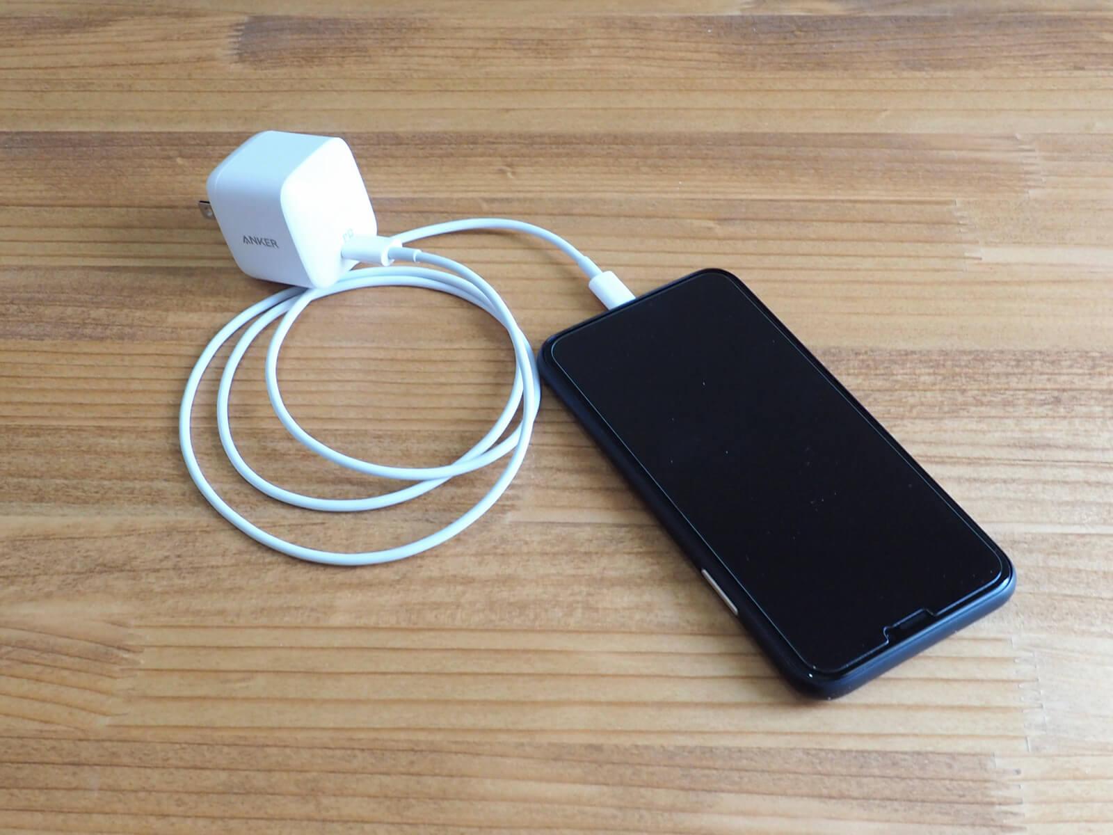 Lightning - USB-Cの充電ケーブル