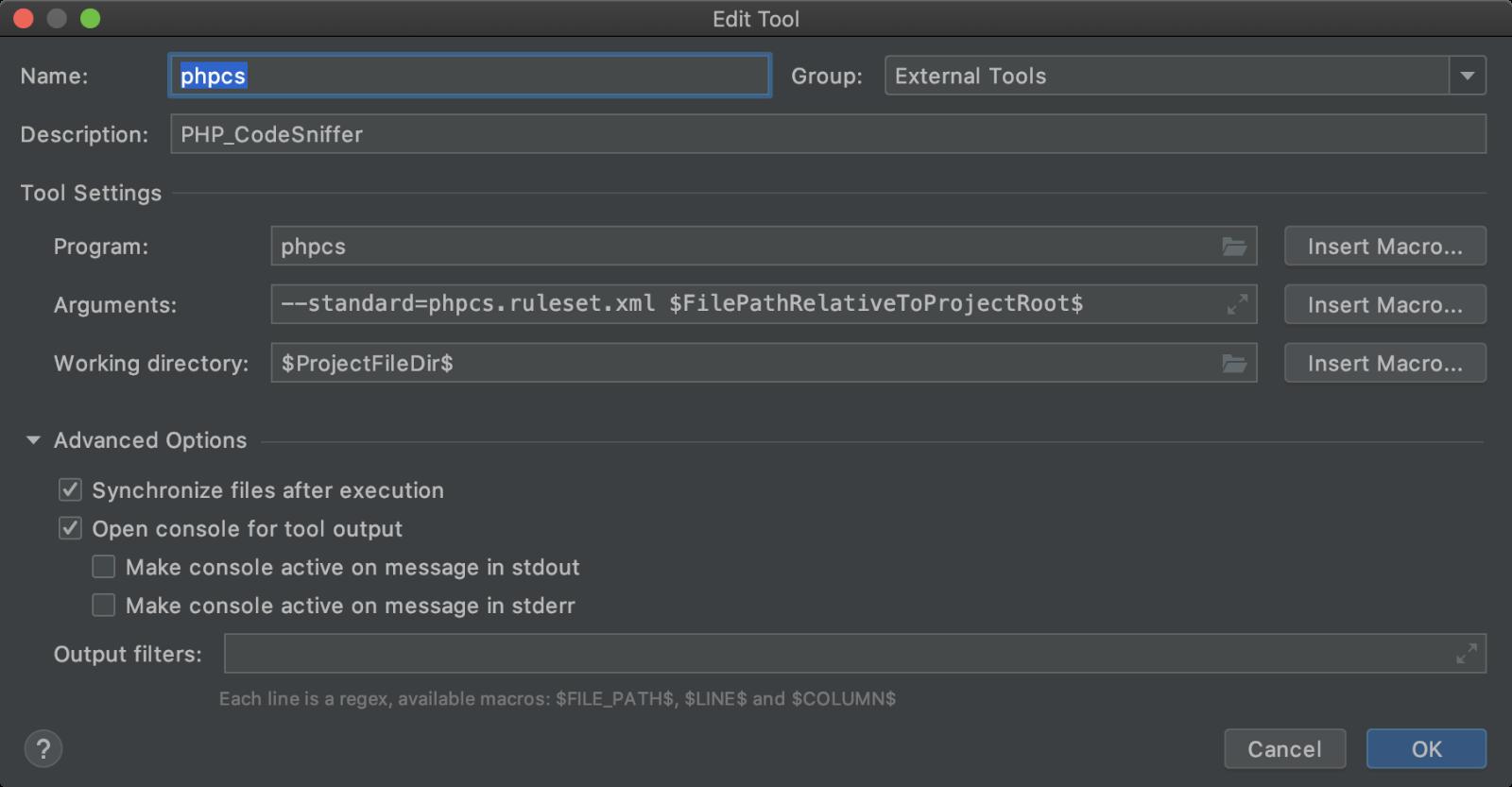 PHP_CodeSnifferをファイル単体で実行するための設定例
