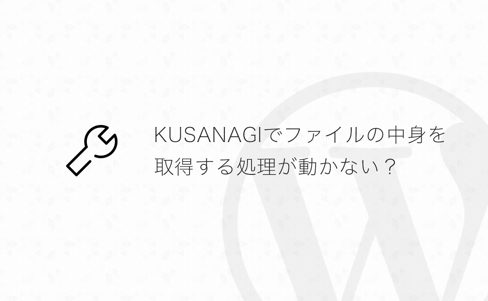 【WordPress】KUSANAGIでWP_Filesystemが動作せずファイルの内容を取得できないときの対処方法