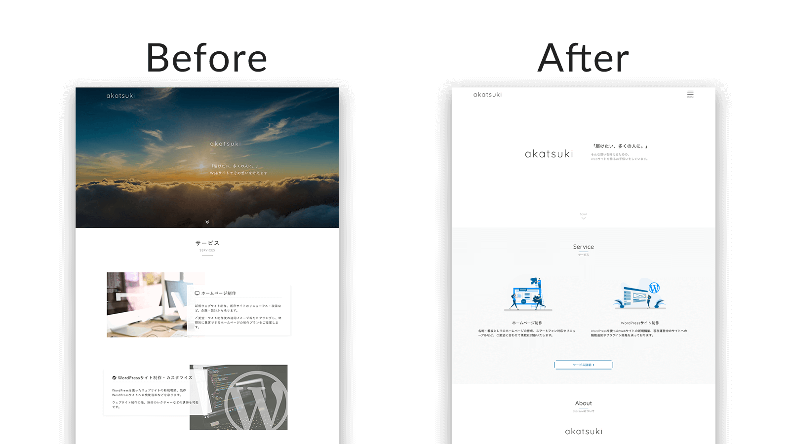 WebサイトリニューアルBefore,After